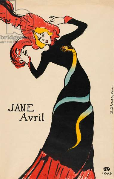 Jane Avril poster by Henri de Toulouse-Lautrec