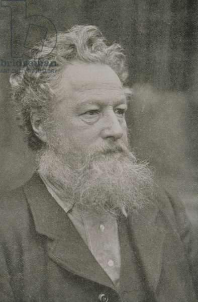 William Morris (1834-96) (b/w photo)