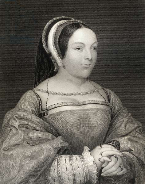Portrait of Margaret Tudor (1489-1541) Queen of Scotland, from 'Lodge's British Portraits', 1823 (engraving)