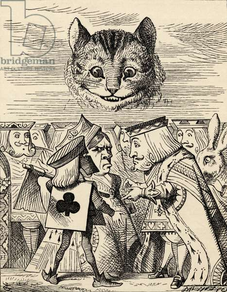 The King of Hearts arguing with the Executioner, from 'Alice's Adventures in Wonderland' by Lewis Carroll, published 1891 (litho)