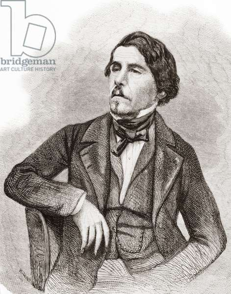 Ferdinand Victor Eugène Delacroix, from L'Univers Illustre, pub. June 1863