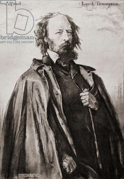 Tennyson (of Aldworth and Freshwater) Alfred Tennyson, 1st Baron, byname Alfred, Lord Tennyson, 1809-1892. English poet laureate.  From an illustration by A.S. Hartrick.