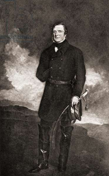 "James Henry Somerset Fitzroy,1st Baron Raglan 1788-1855.  English soldier and commander in chief during the crimean war.  From the picture by Sir Francis Grant in the Army and Navy Club.From the book ""The Letters of Queen Victoria 1854-1861 Vol III"" published 1907."