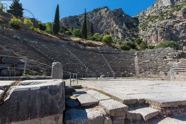 Ancient Delphi, Phocis, Greece.  The Theatre of Delphi (photo)