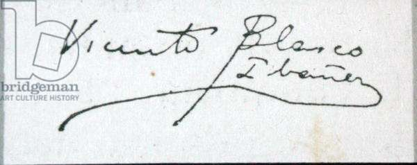 Signature of the novelist (ink on paper)