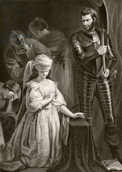 Execution of Mary Queen of Scots, 8th February 1587, from 'The National and Domestic History of England' by William Hickman Smith Aubrey (1858-1916) published London, c.1890 (litho)