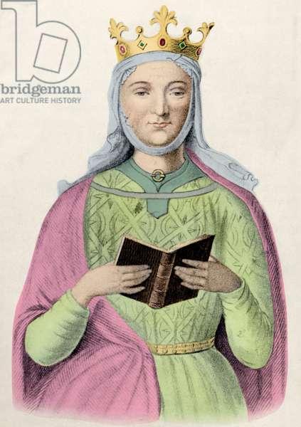 Eleanor of Aquitaine (litho) (later colouration)