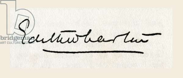 Signature of Edith Wharton, born Edith Newbold Jones