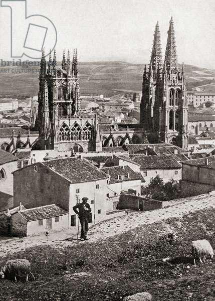 Burgos, Spain. The Cathedral circa. 1910