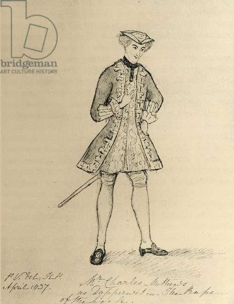Charles Matthews (1803-78) (engraving)