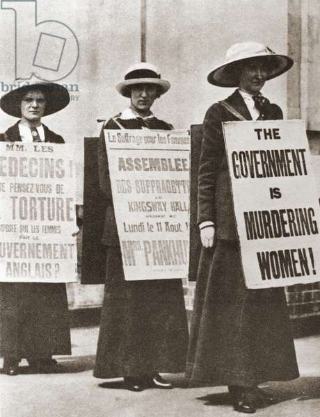 British Suffragettes c.1910, from The Story of Seventy Momentous Years, published by Odhams Press 1937