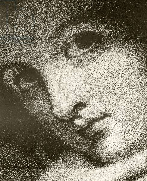 Detail of Emma, Lady Hamilton, engraved by John Jones, from 'The Print-Collector's Handbook' by Alfred Whitman, published by George Bell & Sons, 1901 (litho) (see 342808)