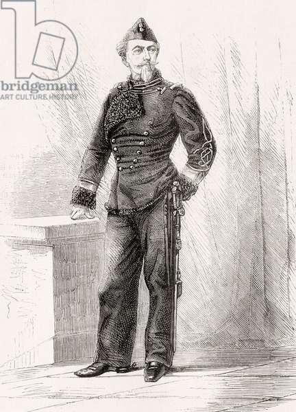 Nicolae Golescu, from 'L'Univers Illustré', published 1866 (engraving)