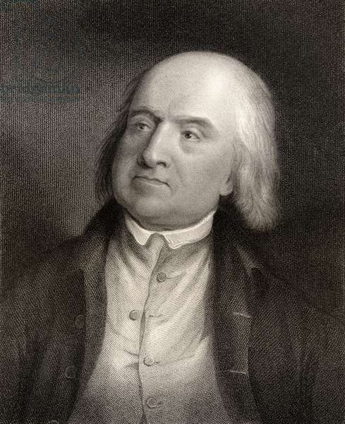 Jeremy Bentham, engraved by S. Freeman (1773-1857) from 'National Portrait Gallery, volume IV', published c.1835 (litho)
