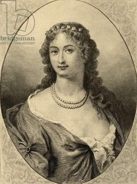 Claudine Alexandrine Guerin (1682-1749) Madame de Tencin (litho)