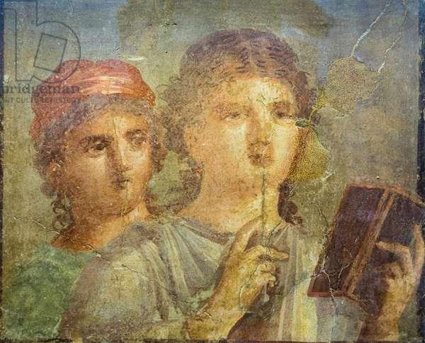Fresco of a girl reading (fresco)