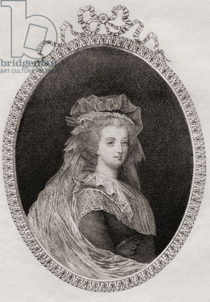 Marie-Antoinette (1755-93): Queen of France (etching)