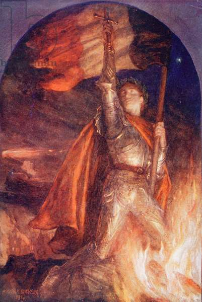 Resurgam or I Shall Rise Again, after a painting by Frank Dicksee, from King Albert's Book, pub. 1915