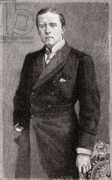 Sir Herbert Beerbohm Tree, here aged 36, from The Strand Magazine, Vol I January to June, 1891