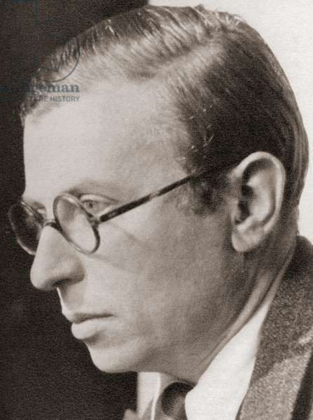 Jean-Paul Charles Aymard Sartre, after a contemporary print