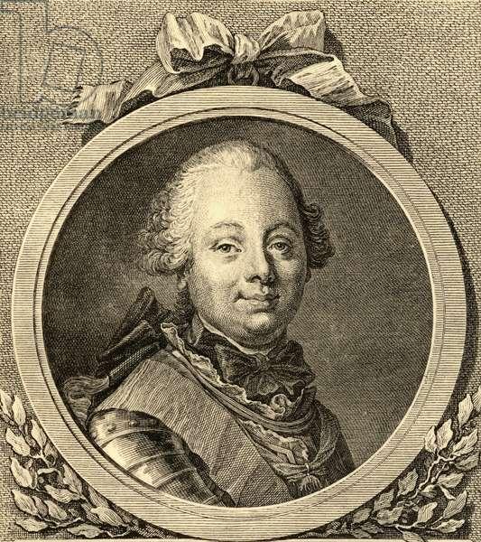 Etienne-Francois (1719-85) duke of Choiseul (litho)