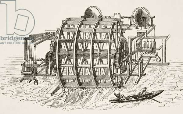 The water-works of London Bridge, first erected in 1582, from 'The National and Domestic History of England' by William Hickman Smith Aubrey (1858-1916) published London, c.1890 (litho)