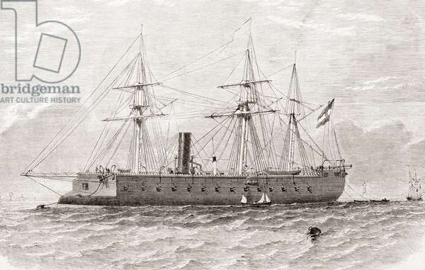 SMS Kaiser Max, the lead ship of the Kaiser Max class of armored frigates built for the Austrian Navy in the 1860s, from L'Univers Illustre pub. 1867