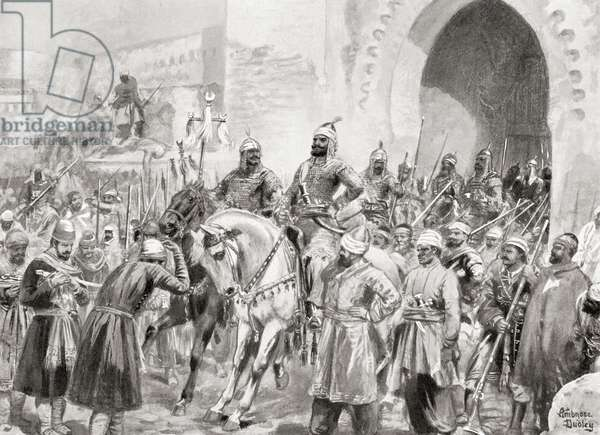 Entry of the Turks under Suleiman I into Baghdad, 1534, from Hutchinson's History of the Nations, pub.1915