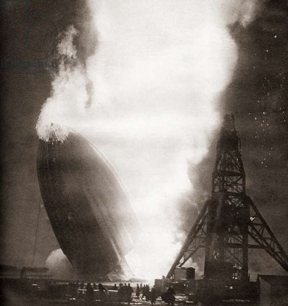 The Hindenburg disaster, May 6, 1937
