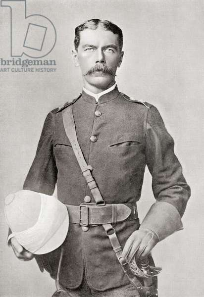 Lord Kitchener in 1882 as Major of the Egyptian Cavalry.  Field Marshal Horatio Herbert Kitchener, 1st Earl Kitchener, 1850 – 1916. British Field Marshal.   From Field Marshal Lord Kitchener, His Life and Work for the Empire, published 1916.