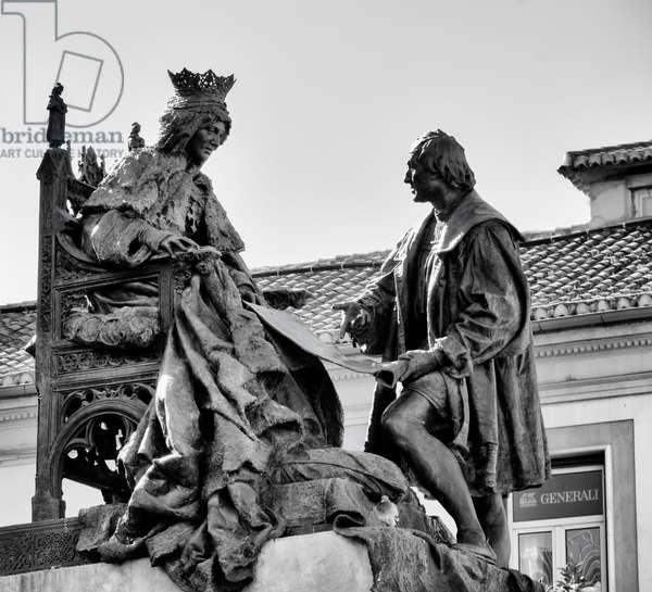 Granada, Spain. Queen Isabella and Columbus.