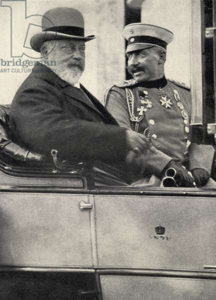 Kaiser Wilhelm II (1859-1941) Emperor of Germany and King of Prussia (1888-1918) & Edward VII (1841-1910) King of England (1901-10) (b/w photo)