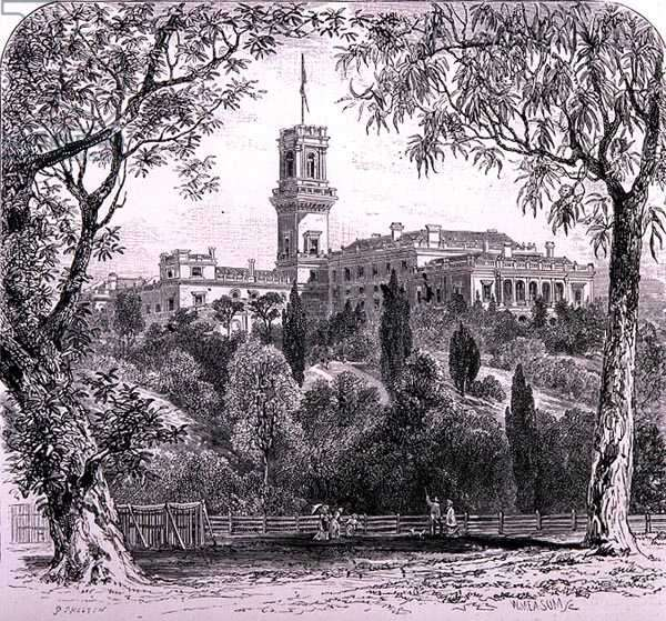 Government House, Melbourne, Australia, from 'Australian Pictures', pub. by The Religious Tract Society, 1886 (engraving)