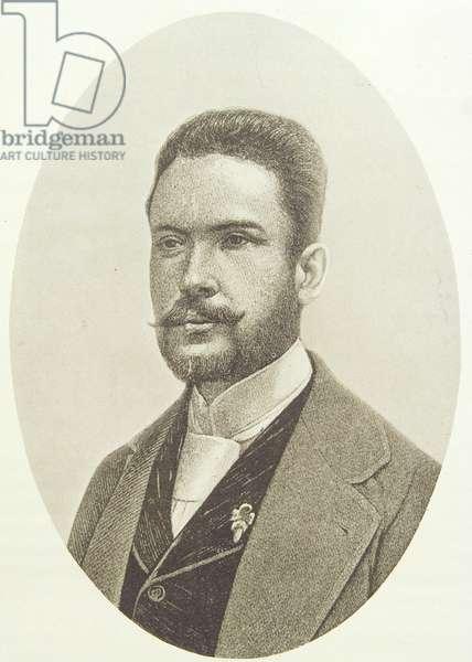 Ruben Dario (1867-1916) (engraving)