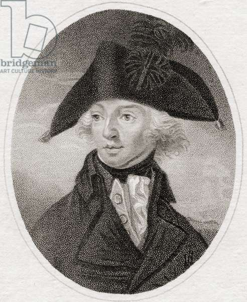 Horatio Nelson, 1st Viscount Nelson, 1st Duke of Bronté, 1758 to 1805. British naval commander, 19th century print engraved by Heath for the Lady' s Magazine.
