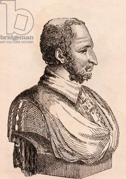 Paolo Veronese, illustration from '75 Portraits Of Celebrated Painters From Authentic Originals', published in London, 1817 (engraving)
