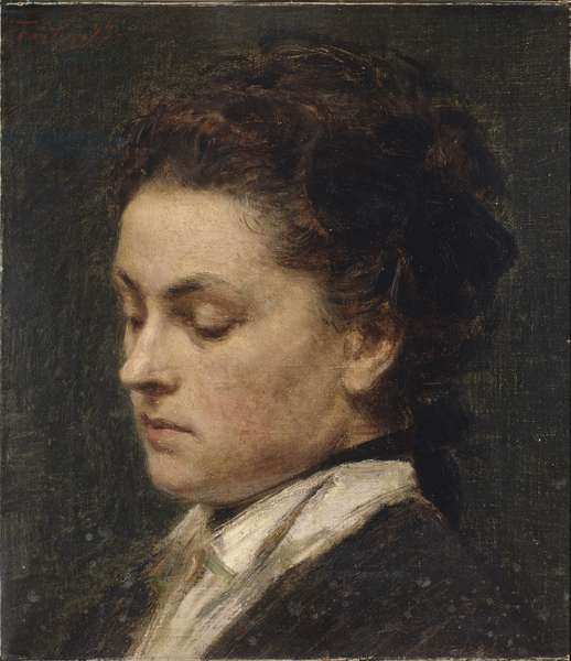 Portrait of Victoria Dubourg, the Artist's Wife, 1873 (oil on canvas)