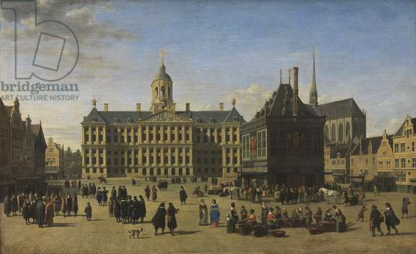 The Dam, Amsterdam, 1668 (oil on canvas)