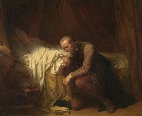 The Painter Michelangelo at the Deathbed of Vittoria Colonna (oil on canvas)