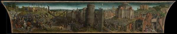 Titus' Conquest of Jerusalem (oil on panel)