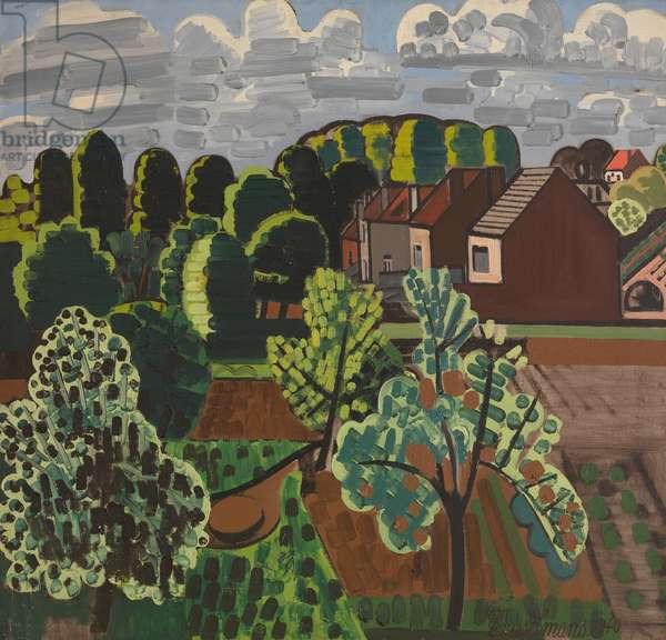 Sunny Brabant Landscape, 1940 (oil on canvas)