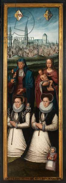 Detail of Portrait of Juan Pardo II and his wives Anna Ingenieulandt and Maria Anchemant, 1580 (oil on panel)
