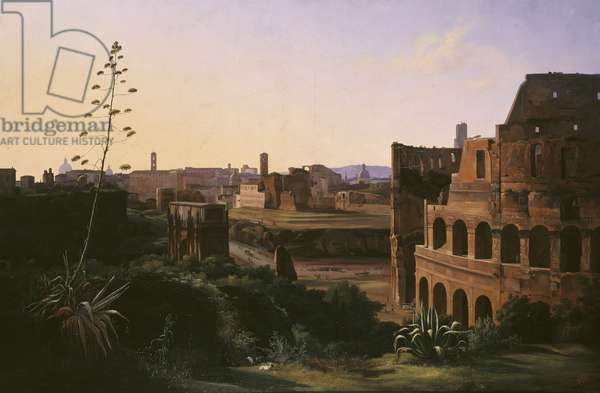 View of the Colosseum in Rome, 1837 (oil on canvas)