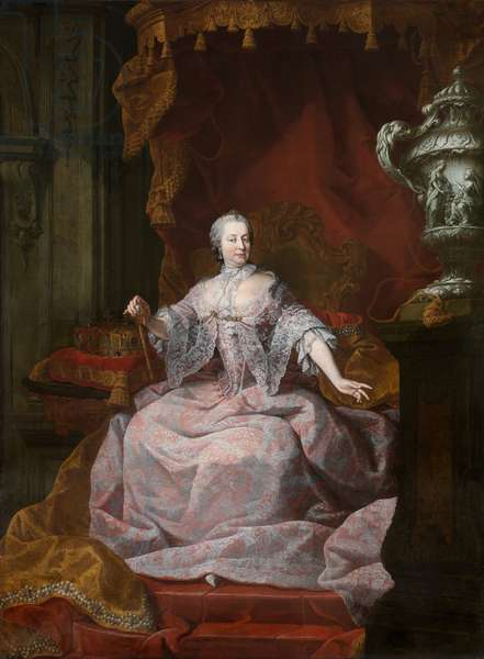 Portrait of Empress Maria-Theresa (oil on canvas)