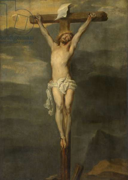 Christ on the Cross (oil on panel)