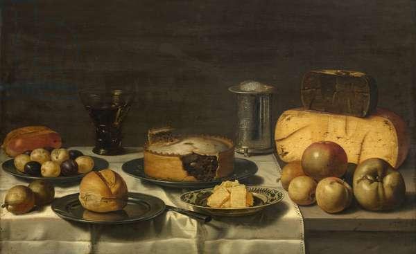 A Dutch Breakfast (oil on panel)