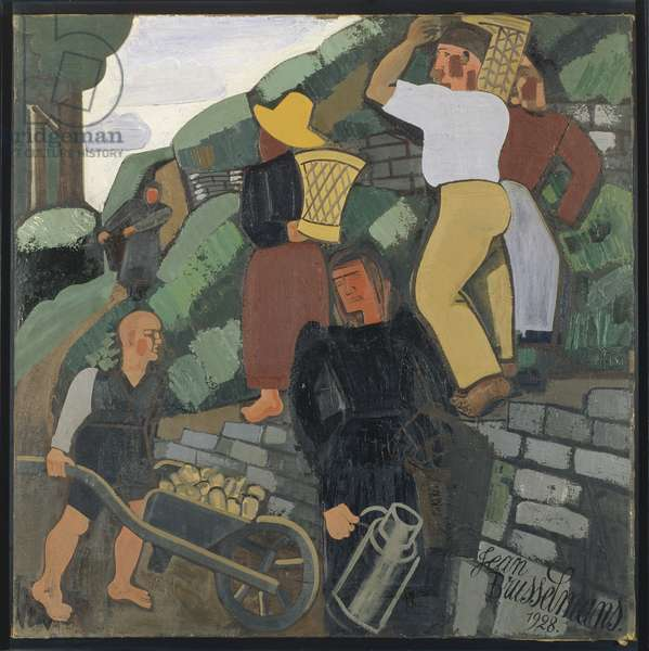 Peasants, 1928 (oil on canvas)