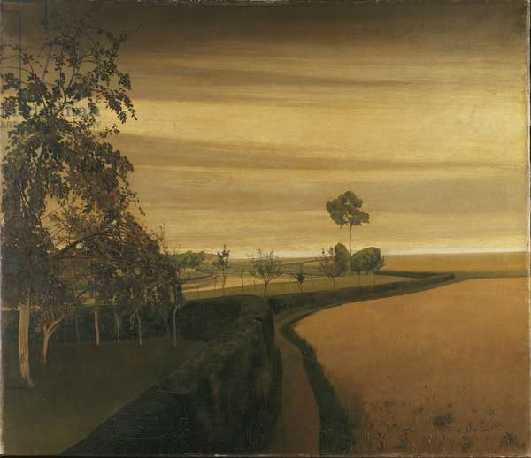 End of a Gloomy Day in Sint-Martens-Latem, 1907 (oil on canvas)