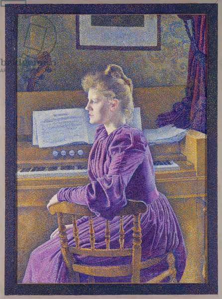 Maria Sèthe at the harmonium, 1891 (oil on canvas)