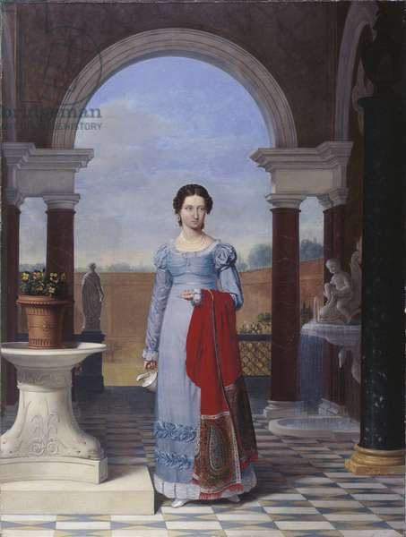 Portrait of Mrs. Colette Versavel, wife of the Physician Isaac Joseph De Meyer, 1822 (oil on canvas)